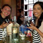 Urmila and Katie celebrating