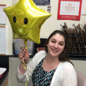 Rachel Ende celebrating