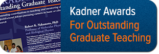Kadner Awards for Outstanding Graduate Teaching