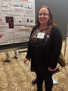 Beth at her poster at the 2017 Mid-Atlantic Microbial Pathogenesis Meeting