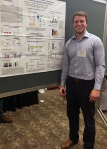 CJ presenting at the 2017 Mid-Atlantic Microbial Pathogenesis Meeting
