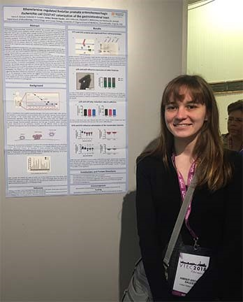 Brooke getting ready to talk some science at the VTEC (Verotoxin E. coli) meeting in Italy!