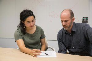 Sophia Keniston, who is studying engineering at PVCC, worked with civil engineering professor Jon Goodall in his hydroinformatics lab.