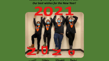 New Year's greetings from Derre lab